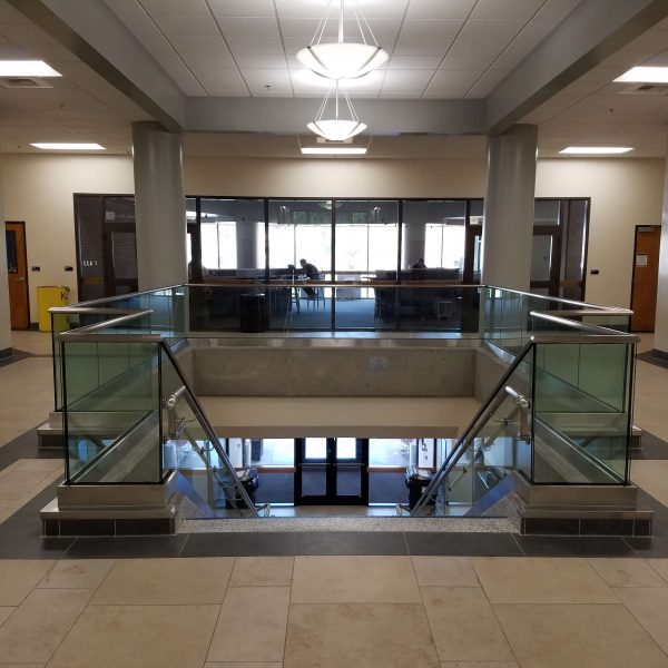 Capital Glass provides Reno, Carson City and the Northern Nevada area with the best in residential and commercial glass services. Our services include glass repair, window repair, automatic door installation, and frameless shower enclosures. Glass Handrail 2