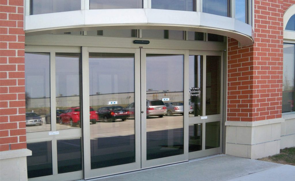 Capital Glass provides Reno, Carson City and the Northern Nevada area with the best in residential and commercial glass services. Our services include glass repair, window repair, automatic door installation, and frameless shower enclosures. commercial door 2