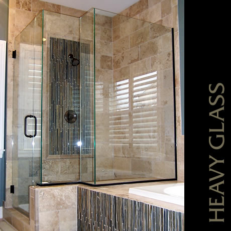 Capital Glass provides Reno, Carson City and the Northern Nevada area with the best in residential and commercial glass services. Our services include glass repair, window repair, automatic door installation, and frameless shower enclosures. heavy glass shower 1