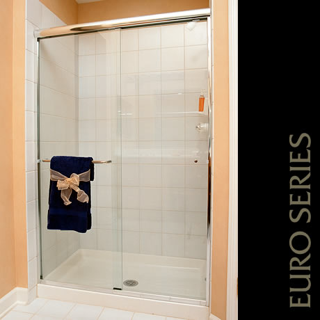 Capital Glass provides Reno, Carson City and the Northern Nevada area with the best in residential and commercial glass services. Our services include glass repair, window repair, automatic door installation, and frameless shower enclosures. traditional shower 1