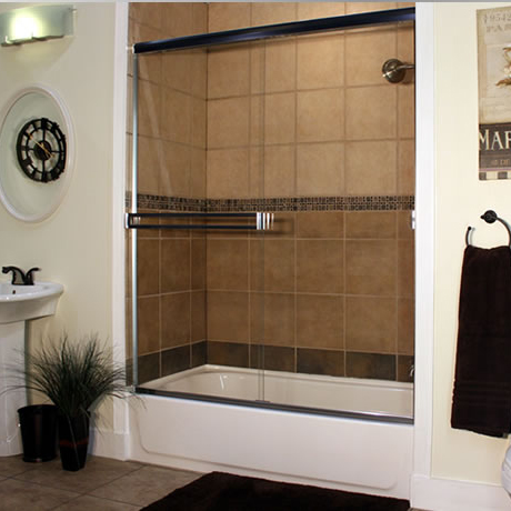 Capital Glass provides Reno, Carson City and the Northern Nevada area with the best in residential and commercial glass services. Our services include glass repair, window repair, automatic door installation, and frameless shower enclosures. traditional shower 7