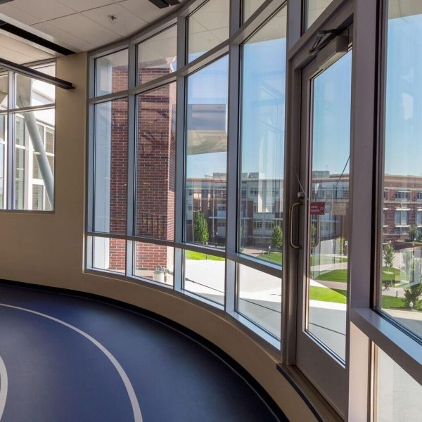 Capital Glass provides Reno, Carson City and the Northern Nevada area with the best in residential and commercial glass services. Our services include glass repair, window repair, automatic door installation, and frameless shower enclosures. EL Wiegand Building-2017 #14c